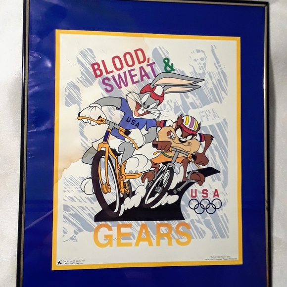 Vintage Looney tunes Olympic cycle photo